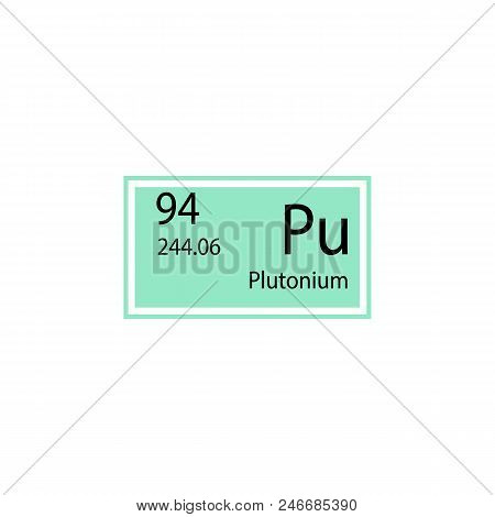 Periodic Table Element Plutonium Icon. Element Of Chemical Sign Icon. Premium Quality Graphic Design