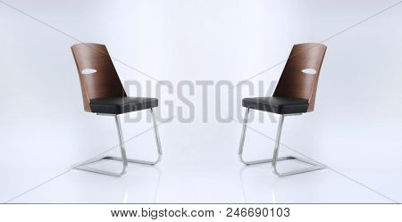 Two chair isolated on white room