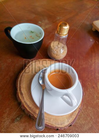 A Cup Of Coffee Hot Coffee And Hot Tea Five Pollen. Coffee Espresso Classic. Traditional Coffee On W