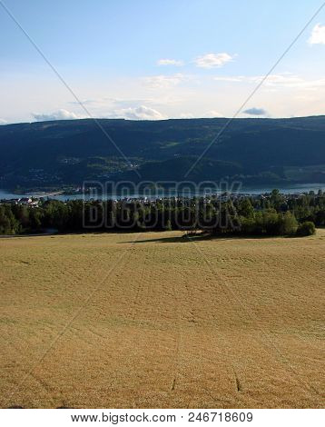 View Of The Surroundings Of Lillehammer, Norway