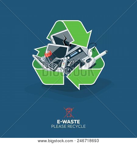 E-waste In Recycling Sign Symbol