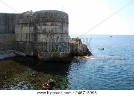 View Of The Fortress Dubrovnik City. Croatia, Southern Dalmatia