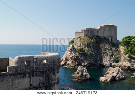 View Of The Fortress Of The Dubrovnik City. Croatia, Southern Dalmatia