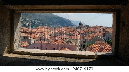 View From The Window Of The Dubrovnik City Croatia