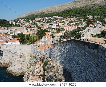 View Of The Dubrovnik City. Croatia, Southern Dalmatia
