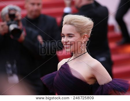 Emilia Clarke attends the screening of 'Solo: A Star Wars Story' during the 71st annual Cannes Film Festival at Palais des Festivals on May 15, 2018 in Cannes, France.
