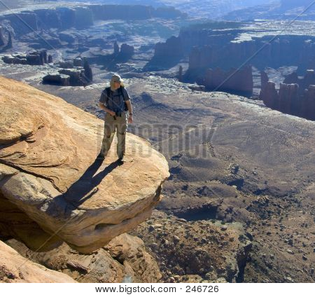 Hiker On The Edge