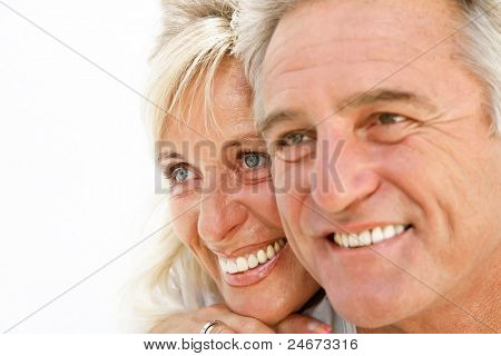 Portrait of a happy romantic couple.