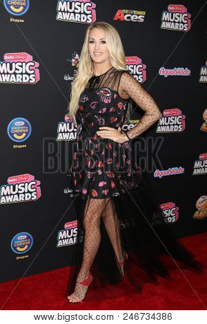 LOS ANGELES - JUN 22:  Carrie Underwood at the 2018 Radio Disney Music Awards at the Loews Hotel on June 22, 2018 in Los Angeles, CA