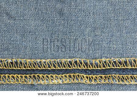 Blue Jeans Fabric. Denim Jeans Texture Or Denim Jeans Background.