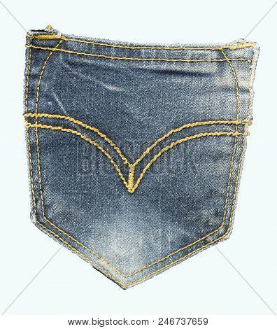 Hundred-dollar Bills In Jeans Pocket Isolated