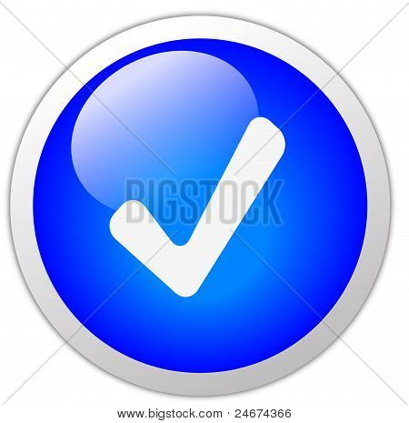 Tick Mark Icon Button