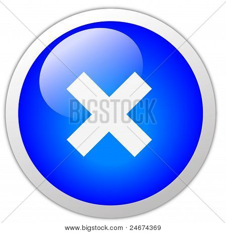 Cross Icon Button