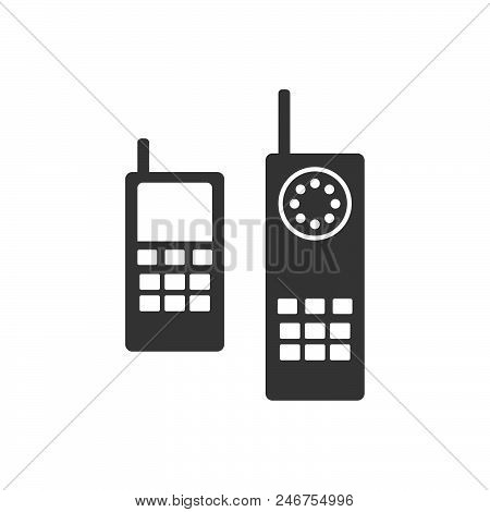 Old Phone Vector Icon On White Background. Old Phone Modern Icon For Graphic And Web Design. Old Pho