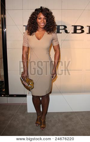LOS ANGELES - OCT 26: Serena Williams   arriving at the Burberry Body Launch at Burberry on October 26, 2011 in Beverly Hills, CA