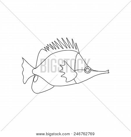 Yellow Longnose Butterfly On The White Background. Vector Illustration