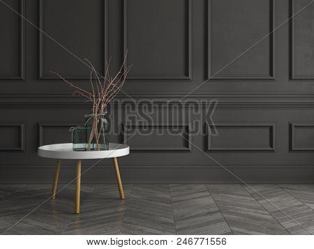 Part of modern interior design 3D rendering