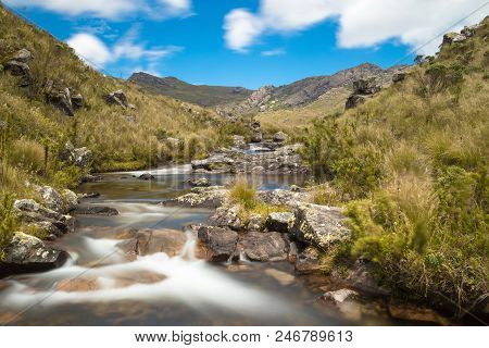 Mountain Stream In Resende, Rio De Janeiro, Brazil