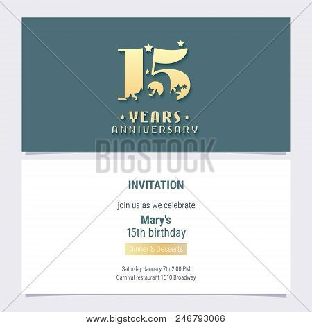 15 Years Anniversary Vector Photo Free Trial Bigstock