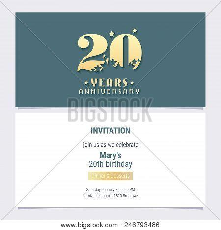 20 Years Anniversary Vector Photo Free Trial Bigstock
