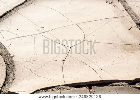 Namibia Landscape, Damaraland Parched Cracked Earth After The Rain