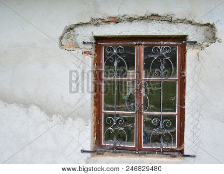 Handmade Bars On The Window, South Bohemia, Czech Republic