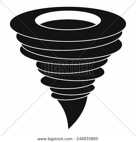 Storm Hurricane Icon. Simple Illustration Of Storm Hurricane Vector Icon For Web Design Isolated On