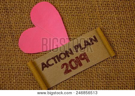 Handwriting Text Action Plan 2019. Concept Meaning Challenge Ideas Goals For New Year Motivation To