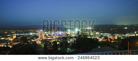 View Of Ipswich City At Night.