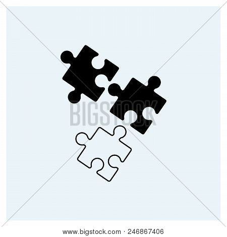 Puzzle Icon Vector Icon On White Background. Puzzle Icon Modern Icon For Graphic And Web Design. Puz