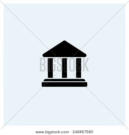 Government Icon Vector Icon On White Background. Government Icon Modern Icon For Graphic And Web Des