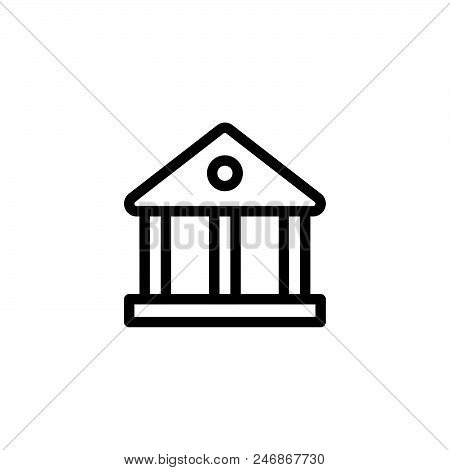 Government Vector Icon On White Background. Government Modern Icon For Graphic And Web Design. Gover