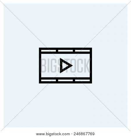 Video Icon Vector Icon On White Background. Video Icon Modern Icon For Graphic And Web Design. Video