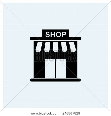 Shop Icon Vector Icon On White Background. Shop Icon Modern Icon For Graphic And Web Design. Shop Ic