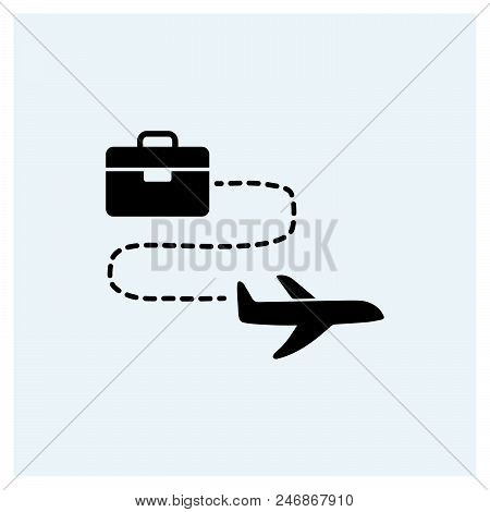 Business Travel Icon Vector Icon On White Background. Business Travel Icon Modern Icon For Graphic A