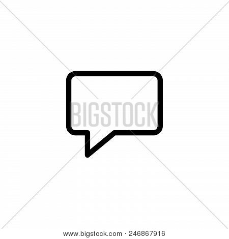 Speech Bubble Vector Icon On White Background. Speech Bubble Modern Icon For Graphic And Web Design.