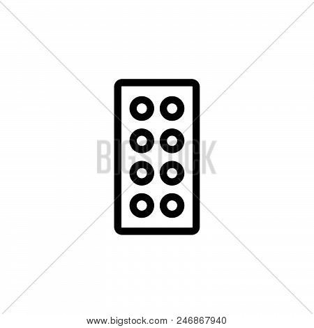 Pill Vector Icon On White Background. Pill Modern Icon For Graphic And Web Design. Pill Icon Sign Fo