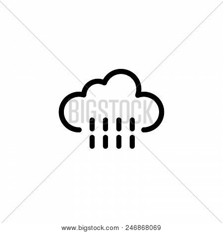 Rain Vector Icon On White Background. Rain Modern Icon For Graphic And Web Design. Rain Icon Sign Fo