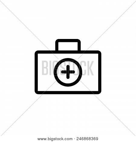 First Aid Vector Icon On White Background. First Aid Modern Icon For Graphic And Web Design. First A