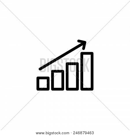 Chart Vector Icon On White Background. Chart Modern Icon For Graphic And Web Design. Chart Icon Sign
