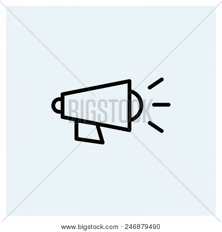 Megaphone Icon Vector Icon On White Background. Megaphone Icon Modern Icon For Graphic And Web Desig
