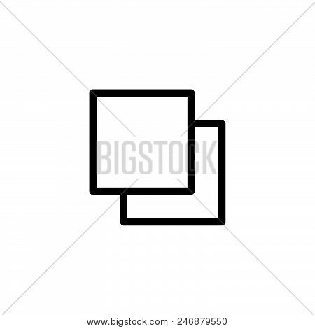 Square Vector Icon On White Background. Square Modern Icon For Graphic And Web Design. Square Icon S