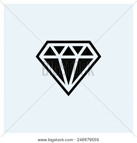 Diamond Icon Vector Icon On White Background. Diamond Icon Modern Icon For Graphic And Web Design. D