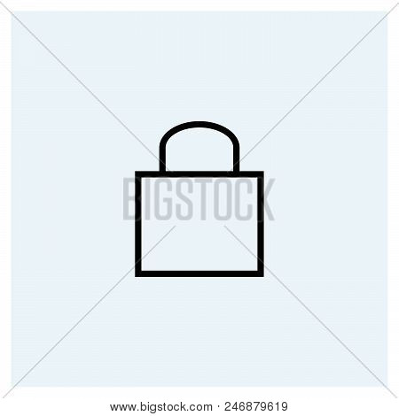 Lock Icon Vector Icon On White Background. Lock Icon Modern Icon For Graphic And Web Design. Lock Ic