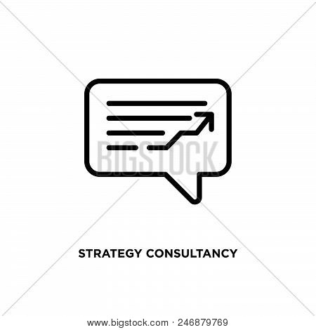 Strategy Consultancy Vector Icon On White Background. Strategy Consultancy Modern Icon For Graphic A