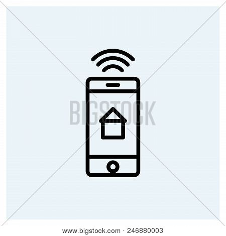 Smart Home Icon Vector Icon On White Background. Smart Home Icon Modern Icon For Graphic And Web Des