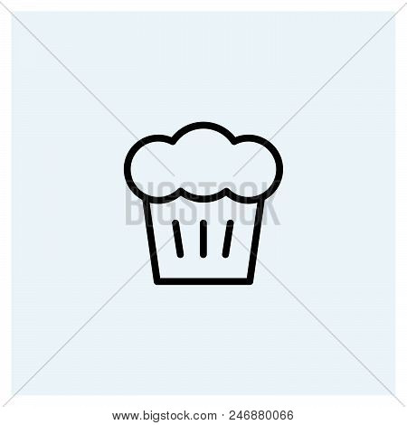 Cupcake Icon Vector Icon On White Background. Cupcake Icon Modern Icon For Graphic And Web Design. C