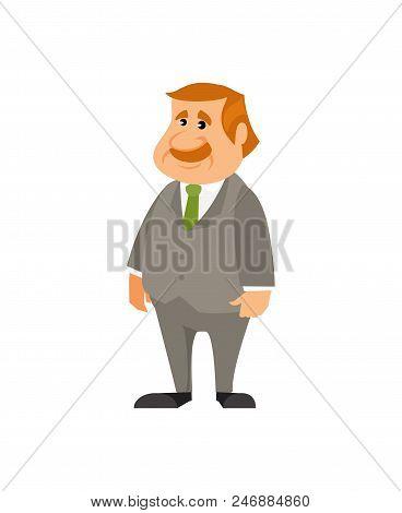 Office Clerk Isolated On White Background. Vector Illustration
