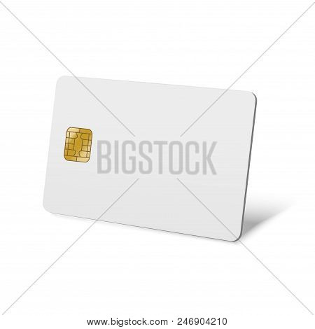 Realistic Detailed 3d Blank White Mockup Plastic Credit Card. Vector Illustration Of Mock Up Persona