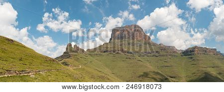 The Sentinel Trail To The Tugela Falls In The Drakensberg Climbs Past The Three Witches And Then Zig